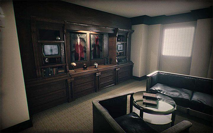 Эта головоломка включена в одну из посещенных комнат, чтобы освободить крысу (потерянную душу) из клетки - Риддлер с двумя телевизорами и рентгенами   Загадки в Layers of Fear 2 - Layers of Fear 2 - Руководство по игре и прохождение игры