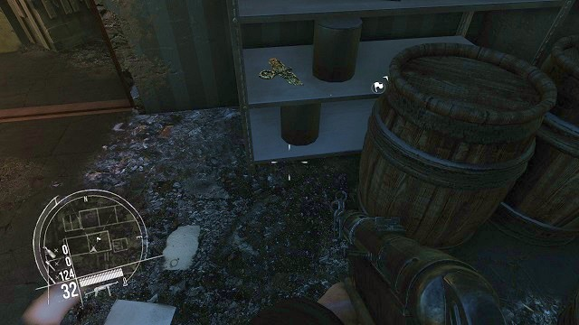 The location of the 2nd secret. - Mission 15 - Collectibles - Enemy Front - Game Guide and Walkthrough