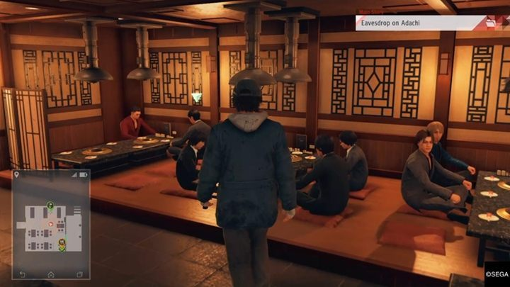 After the cutscene, talk with a receptionist - Chapter 6 Collusion | Judgment Walkthrough - The main storyline - Judgment Guide