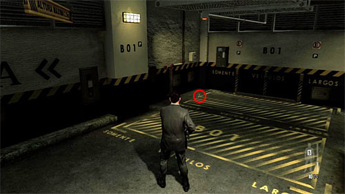 SECRET 4 [Golden Gun - PT92 Pistol 3/3]: Youll find it in the underground parking, on the B01 parking place - Clues and Golden Guns - Chapter I - Collectibles - Max Payne 3 - Game Guide and Walkthrough