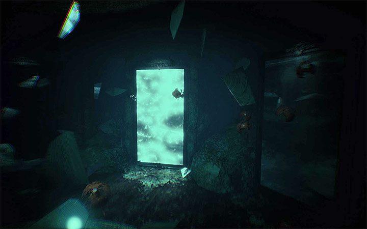 Поворачивая доску, дождитесь момента разблокирования прохода (рисунок выше). Вы должны использовать его как можно скорее, чтобы убежать от монстра и избежать смерти героя - Риддлера с двухсторонней доской   Решение загадки в Layers of Fear 2 - Layers of Fear 2 - Руководство по игре