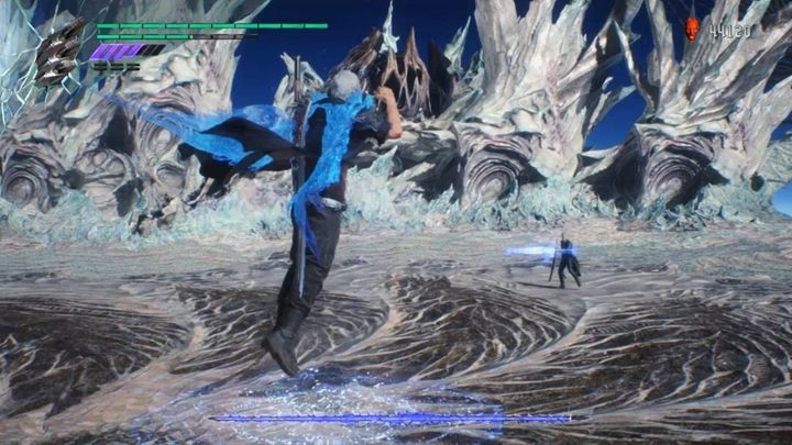 Start the fight and switch to Trickster style - Vergil Boss Fight Guide for DMC5 - Bosses - Devil May Cry 5 Guide