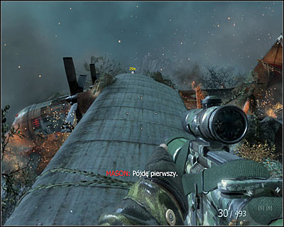 After reaching the wreak of a plane, walk on its wings - Crash Site | Intel - Intel location - Call of Duty: Black Ops Game Guide & Walkthrough