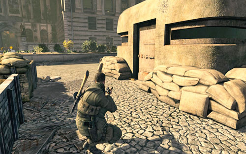 The gold can be found right before the entrance to the first bunker [#4] - Mission 4   Wine Bottles and Gold Bars - Wine Bottles and Gold Bars - Sniper Elite V2 Game Guide & Walkthrough