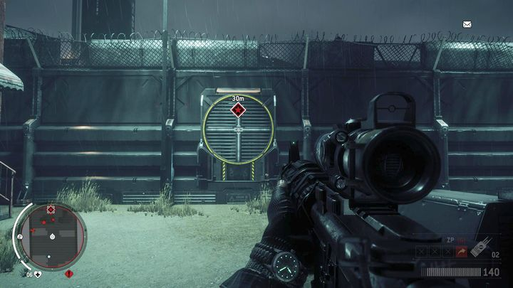 You can get inside through the ventilation shaft visible on the screenshot - Holloway - Red zone | Key Points - Key Points - Homefront: The Revolution Game Guide & Walkthrough