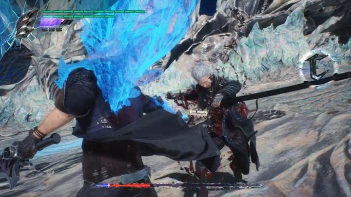 When you fight as Nero, grab Vergil when he is weakened - Vergil Boss Fight Guide for DMC5 - Bosses - Devil May Cry 5 Guide