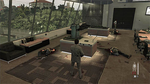 SECRET 4 [Clue 3/5 - Architectural Models]: In the conference room linking the first and the second section of the offices - Clues and Golden Guns - Chapter VI - Collectibles - Max Payne 3 - Game Guide and Walkthrough