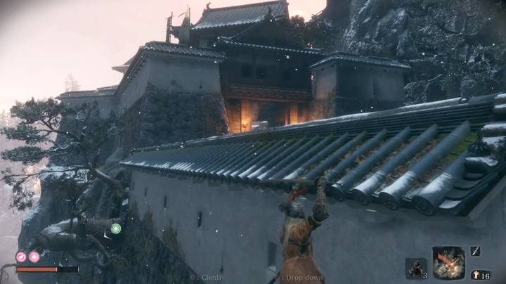 Since the last checkpoint, head up the castles; you can evade enemies - the boss battle arena is a closed zone. - The Blazing Bull   Sekiro Shadows Die Twice Boss Fight - Bosses - Sekiro Guide and Walkthrough