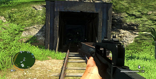 Reach the area marked with the red circle in the above screenshot, in order to face the mine's entrance - The Northern Island - Northern part - Cult Objects - Far Cry 3 - Game Guide and Walkthrough