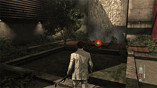 SECRET 5 [Golden Gun - MD-97L Rifle 2/3]: In the atrium, by the small waterfall - Clues and Golden Guns - Chapter VI - Collectibles - Max Payne 3 - Game Guide and Walkthrough