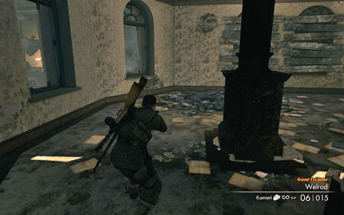 After reaching a room with another staircase, head left - in the corner of the room you will find the gold [#9] - Mission 4   Wine Bottles and Gold Bars - Wine Bottles and Gold Bars - Sniper Elite V2 Game Guide & Walkthrough
