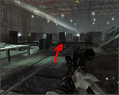 After reaching the biggest warehouse at the end of the mission, ignore the control room which you can see on the right and go straight - WMD | Intel - Intel location - Call of Duty: Black Ops Game Guide & Walkthrough