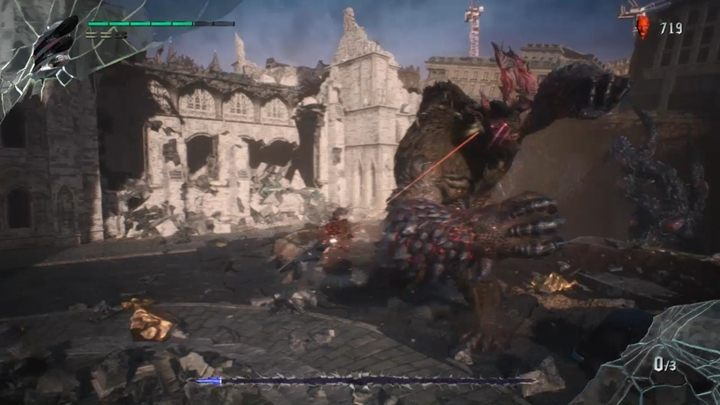 Attack enemies by jumping to them with your hand, avoid attacks and calmly take their lives - Goliath Boss Fight Guide for DMC5 - Bosses - Devil May Cry 5 Guide
