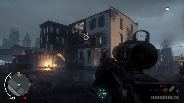 Once you arrive to the place, you shouldnt meet any Korean patrols, but have the weapon ready, because they are on the street in the northern part - Holloway - Red zone | Key Points - Key Points - Homefront: The Revolution Game Guide & Walkthrough