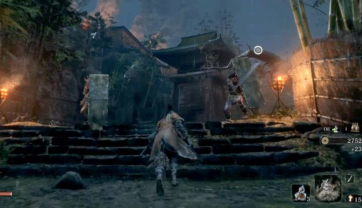 The guards on the bridge can be bypassed, they do not matter for this duel. - Shinobi Hunter Enshin of Misen   Sekiro Shadows Die Twice Boss Fight - Bosses - Sekiro Guide and Walkthrough