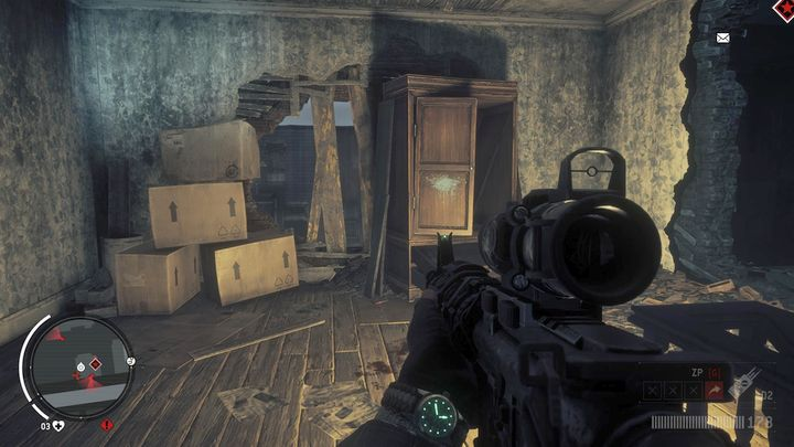 While being on the floor, you will see a decked-up passage to the outside of the building, which you need to destroy, and get through it to the top floor - Holloway - Red zone | Key Points - Key Points - Homefront: The Revolution Game Guide & Walkthrough
