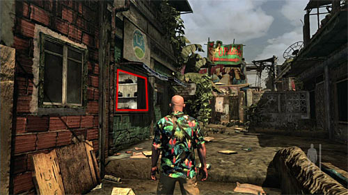 SECRET 1 [Clue 1/9 - Ex-Cop]: At the main path to the bar - Clues and Golden Guns - Chapter VII - Collectibles - Max Payne 3 - Game Guide and Walkthrough