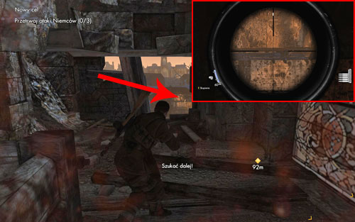 After reaching the drop zone and start of the attacks, inside the building in which there is a sniper [#3] - the bottle is right beside him - Mission 5   Wine Bottles and Gold Bars - Wine Bottles and Gold Bars - Sniper Elite V2 Game Guide & Walkthrough