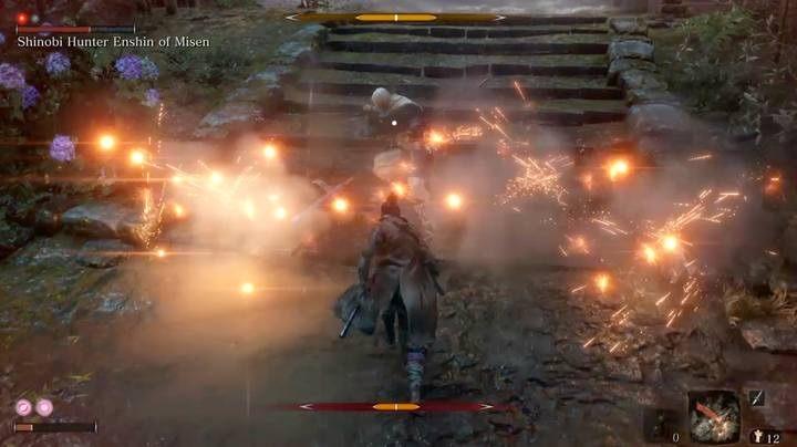 Эта битва должна быть короткой, если вы немедленно перейдете в наступление - Shinobi Hunter Enshin of Misen   Sekiro Shadows Die Twice Boss Fight - Боссы - Руководство по Sekiro и прохождение игры