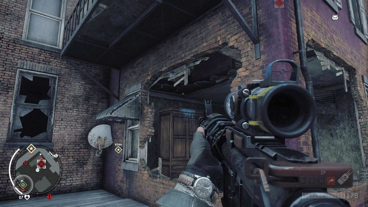 Once you arrive, eliminate the KPA patrol on the street, then move to the bridge leading to the first floor of the building - Holloway - Red zone | Key Points - Key Points - Homefront: The Revolution Game Guide & Walkthrough
