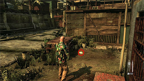 SECRET 8 [Golden Gun - SPAS-15 Shotgun 2/3]: On the ground, just after passing the train station and entering territory of the new gang - Clues and Golden Guns - Chapter VII - Collectibles - Max Payne 3 - Game Guide and Walkthrough