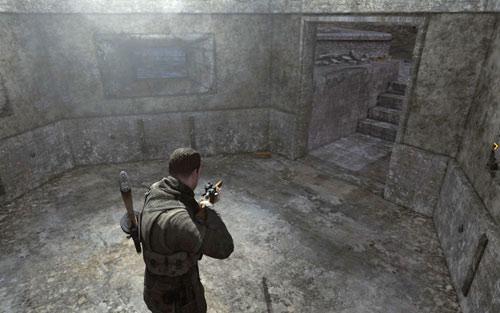Inside the bunker in the middle of the square [#4] - Mission 5   Wine Bottles and Gold Bars - Wine Bottles and Gold Bars - Sniper Elite V2 Game Guide & Walkthrough