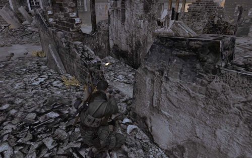 Behind the ruins in the middle of the smaller square which you go through by choosing the stealth option [#5] - Mission 5   Wine Bottles and Gold Bars - Wine Bottles and Gold Bars - Sniper Elite V2 Game Guide & Walkthrough