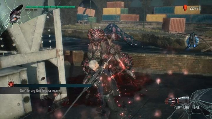 This time, you have to destroy the Red Empusa before they escape - Secret mission 02 walkthrough for Devil May Cry 5 - Secret missions - Devil May Cry 5 Guide