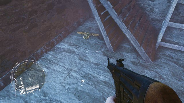 The location of the 3rd collectible. - Mission 3 - Collectibles - Enemy Front - Game Guide and Walkthrough
