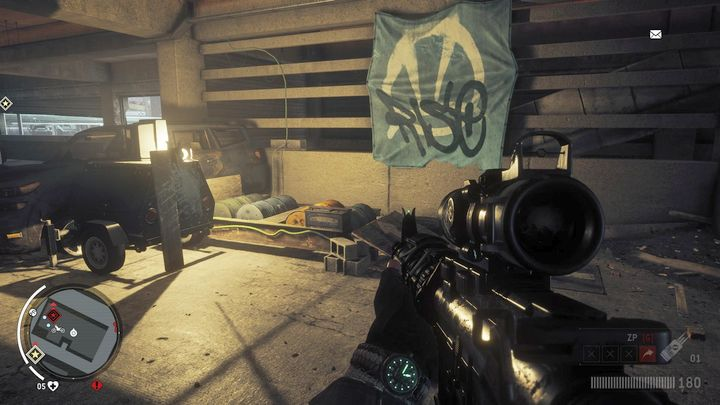 Once you jump, get the bike onto the mechanism visible on the screen, to power-up the generator needed for starting the computer on the upper level of the car park - Holloway - Red zone | Key Points - Key Points - Homefront: The Revolution Game Guide & Walkthrough