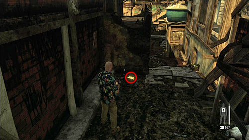 SECRET 10 [Golden Gun - SPAS-15 Shotgun 3/3]: In the dark alley, just after entering territory of the new gang and before the battle - Clues and Golden Guns - Chapter VII - Collectibles - Max Payne 3 - Game Guide and Walkthrough