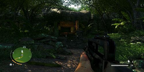 Достигните области, отмеченной красным кружком, на скриншоте выше, чтобы найти вход в храм - Северный остров - Северо-восточная часть - Объекты культа - Far Cry 3 - Руководство по игре и прохождение игры