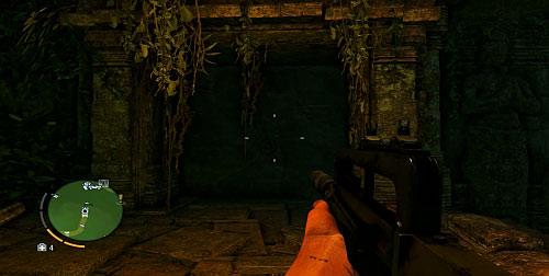 Наверху разбейте стену, которая блокирует вход, показано на скриншоте - Северный остров - Северо-восточная часть - Культовые объекты - Far Cry 3 - Руководство по игре и прохождение игры