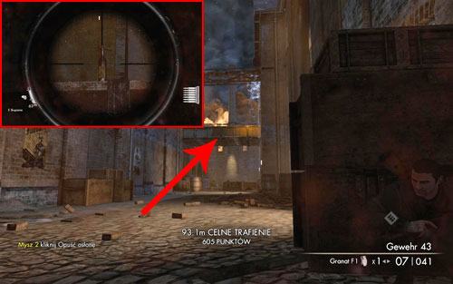 After leaving the hangar, when you get into another shootout between Russians and Germans, the bottle can be found on the bridge connecting the buildings [#1] - Mission 6   Wine Bottles and Gold Bars - Wine Bottles and Gold Bars - Sniper Elite V2 Game Guide & Walkthrough