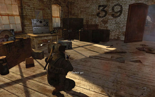 After reaching the other side of the hangar and going down to the very bottom you will find yourself in room 39 [#1] - Mission 6   Wine Bottles and Gold Bars - Wine Bottles and Gold Bars - Sniper Elite V2 Game Guide & Walkthrough