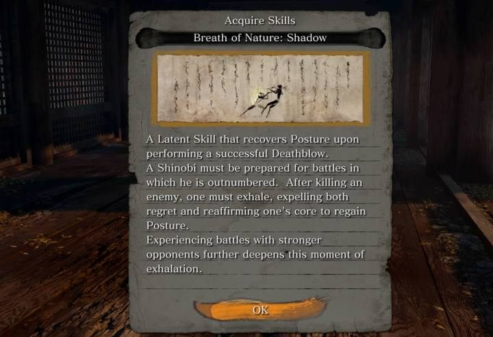 For the completed battle you get a new skill. - Armored Warrior   Sekiro Shadows Die Twice Boss Fight - Bosses - Sekiro Guide and Walkthrough