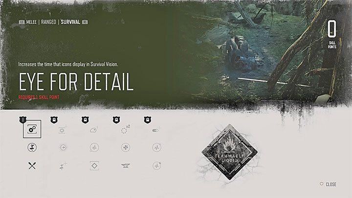 Eye for Detail [level 1] - Увеличивает время, которое значки отображаются в Survival Vision - Навыки за прошедшие дни - Развитие персонажа - Days Gone Guide