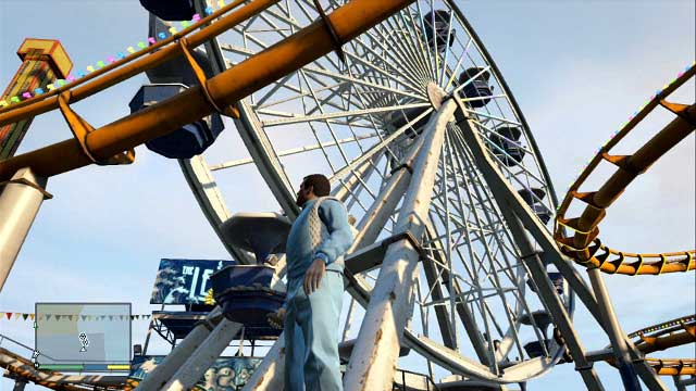 Ferris Wheel is the main attraction on the beach - Los Santos - The most interesting places - Grand Theft Auto V Game Guide