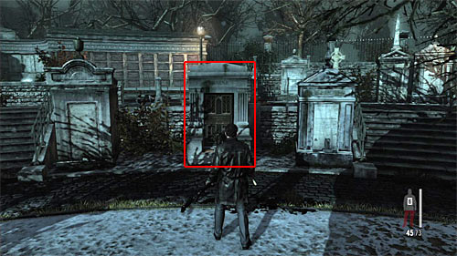 SECRET 6 [Clue 2/3 - Nicole Mausoleum]: In the lower part of the round area, where you defended Raul - Clues and Golden Guns - Chapter VIII - Collectibles - Max Payne 3 - Game Guide and Walkthrough