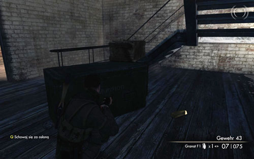 After getting up the stairs and into the building, you should find a staircase - go down and find the Gold Bar right below the stairs [#3] - Mission 6   Wine Bottles and Gold Bars - Wine Bottles and Gold Bars - Sniper Elite V2 Game Guide & Walkthrough
