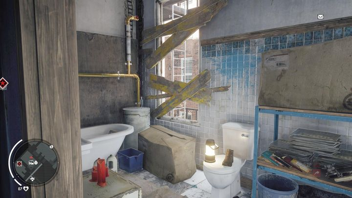 Once you enter the above floor, go to the bathroom to find yourself in a place shown on the above screenshot - Ashgate - Yellow zone | Key Points - Key Points - Homefront: The Revolution Game Guide & Walkthrough