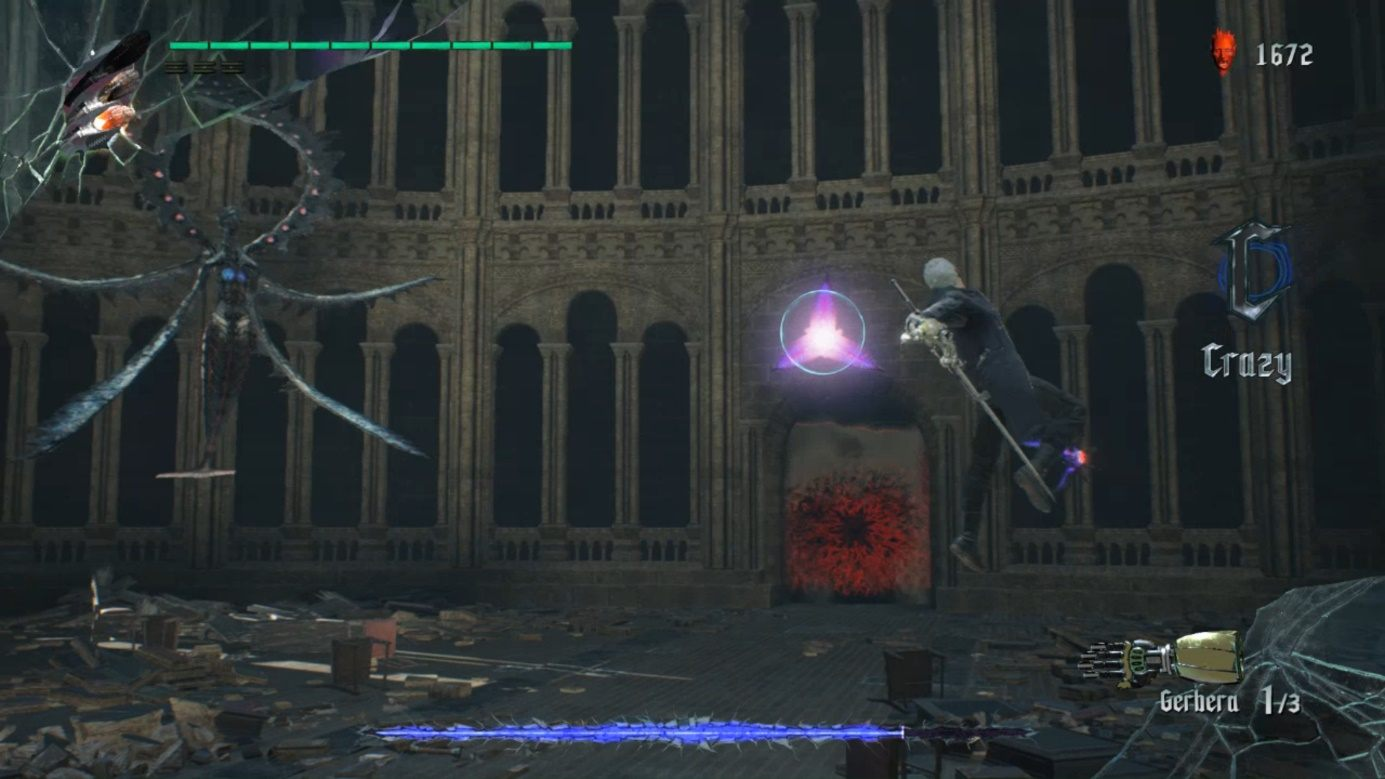 From time to time, the enemy will also send you two small targets that will shoot you - Artemish Boss Fight Guide for DMC5 - Bosses - Devil May Cry 5 Guide