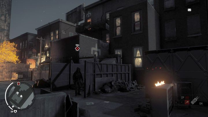 Once you arrive to the place, you will notice a white symbol on one of the buildings - Ashgate - Yellow zone | Key Points - Key Points - Homefront: The Revolution Game Guide & Walkthrough