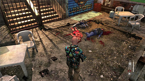 SECRET 6 [Clue 3/3 - Dead Residents]: In the place where you watched an execution of the innocent civilians - Clues and Golden Guns - Chapter IX - Collectibles - Max Payne 3 - Game Guide and Walkthrough