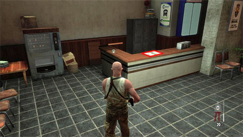 SECRET 2 [Clue 1/2 - Office Newspaper]: Inside the lodge on the first square - Clues and Golden Guns - Chapter X - Collectibles - Max Payne 3 - Game Guide and Walkthrough