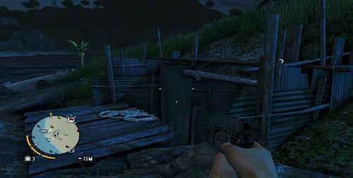 В области, отмеченной красным кружком, вы найдете нечто похожее на траншею, покрытую листом металла (скриншот) - Северный остров - Юго-западная часть - Объекты культа - Far Cry 3 - Руководство по игре и прохождение игры