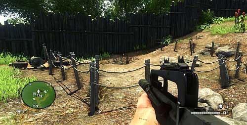 Доберитесь до области, обозначенной цифрой 7, где вы можете найти участок земли, ограниченный веревочным забором - Северный остров - Юго-западная часть - Объекты культа - Far Cry 3 - Руководство по игре и прохождение игры