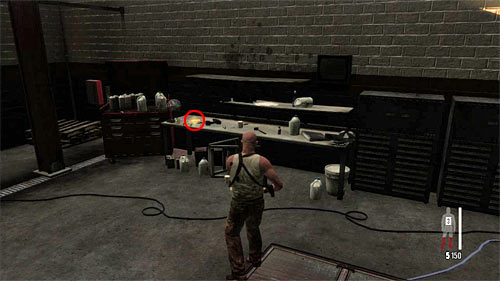 SECRET 4 [Golden Gun - M4 Super 90 Shotgun 2/3]: On table in the storehouse in which you have a bigger battle with enemies - Clues and Golden Guns - Chapter X - Collectibles - Max Payne 3 - Game Guide and Walkthrough