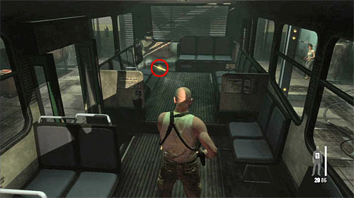 SECRET 5 [Golden Gun - FAL 2/3]: In the storehouse, in the room where the bus is parked - Clues and Golden Guns - Chapter X - Collectibles - Max Payne 3 - Game Guide and Walkthrough