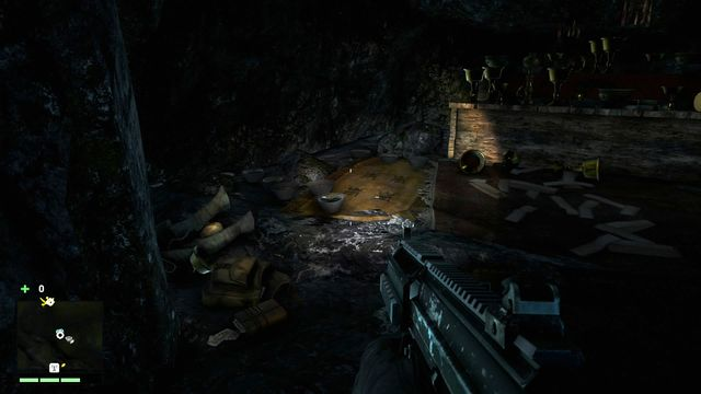 You have to enter the cave crouching (you will find the entrance under a large rock shelf) - Southern and central Kyrat - Lost Letters - Far Cry 4 - Game Guide and Walkthrough